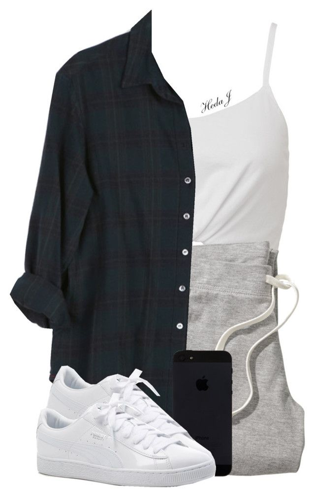 """""""relax"""" by justice-ellis ❤ liked on Polyvore featuring H&M, Xirena and Puma"""