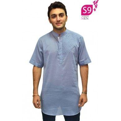 Stylish Steel Grey semi formal short kurta #Ethnickurtas #Kurta #Kurtas