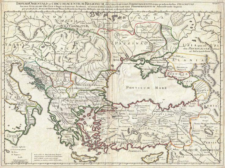 1715 De L'Isle Map of the Eastern Roman Empire under Constantine (Asia Minor, Black Sea, Balkans)