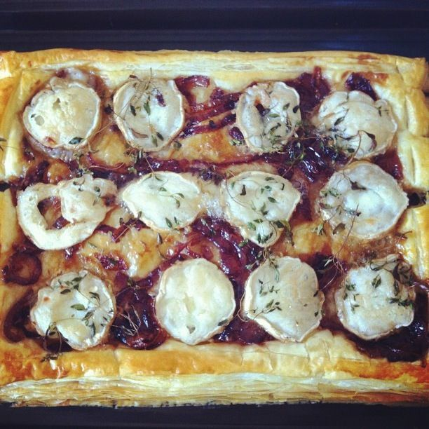 Goats cheese and caramelised onion tart from More Than Toast