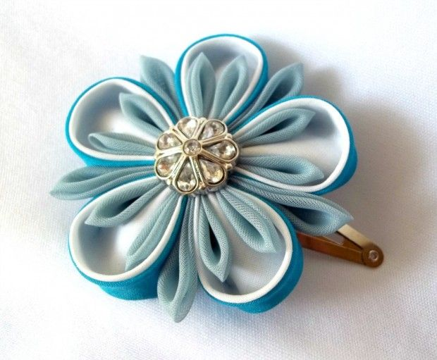 Made in St. Louis: Hair accessories made with Kanzashi flowers