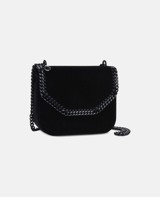 b819568b1b76 STELLA McCARTNEY Velvet Black Falabella Box Large Shoulder Bag  crueltyfree