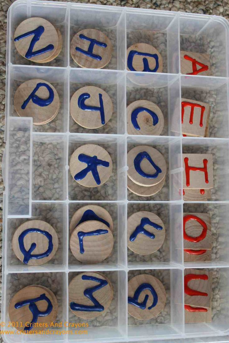 DIY Montessori alphabet