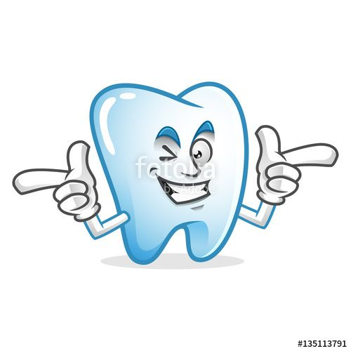 """Download the royalty-free vector """"happy Funky tooth mascot, tooth character, tooth cartoon vector """" designed by IronVector at the lowest price on Fotolia.com. Browse our cheap image bank online to find the perfect stock vector for your marketing projects!"""