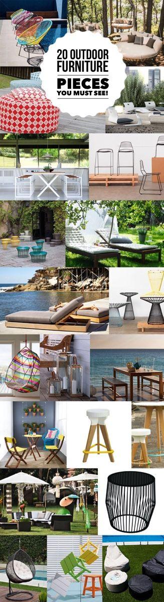 20 Great Outdoor Furniture Pieces to check out  and consider | designlibrary.com.au   Featuring furniture from @MilanDirect @ikeaaustralia @CCInsitu @freedomau @urbancoutureltd @dedon @coastaldesignco @ecooutdoorlife @colleensatara @madebytait @domayne @zanui and more!