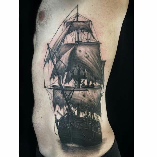 Ghost ship by Ryan Flaherty Tattoo