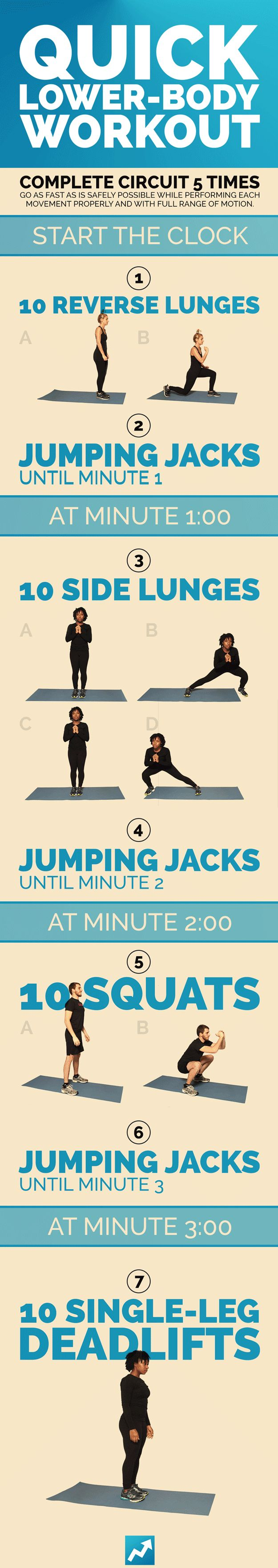 Quick Lower-Body Workout | 9 Quick Total-Body Workouts, No Equipment Needed