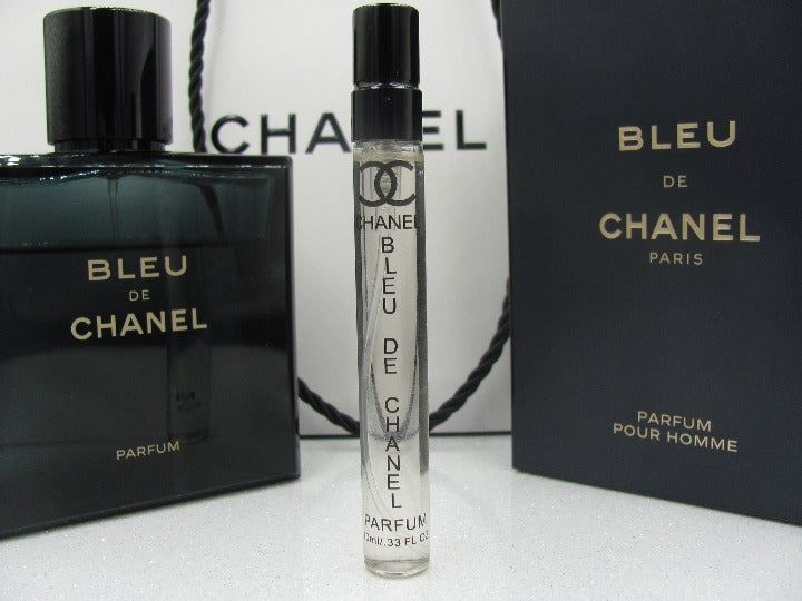 New Bleu De Chanel Parfum The Listing Is For The 10ml Bleu De Chanel Parfum Sample Atomizer Travel Spray Shown In The Photos N Travel Spray Chanel Fragrance