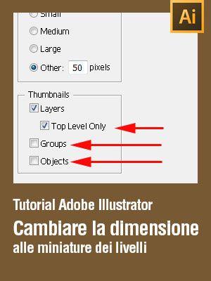 #Tutorial #Illustrator Come cambiare le miniature dei livelli