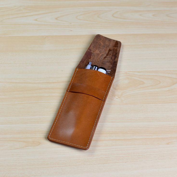 Leather Pen Case, Pencil Case, Leather Pen Pouch, Pen Holder, Pencil Pouch…