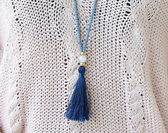 Long beaded Necklace Crystal Beads with by lizaslittlethings