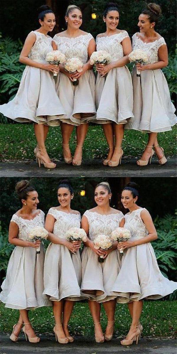 dac7804a9de Outlet Cute Lace Bridesmaid Dress