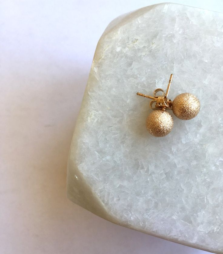Gold Dust Earings. Minimalist, fair trade, unique, and ethical jewelry handcrafted and handmade in the Philippines by survivors of sex trafficking.