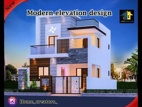 30 Beautiful Modern House Front Elevation Design Double Floor Youtube Front Elevation Designs Small House Elevation Design House Front Contemporary house elevation double floor