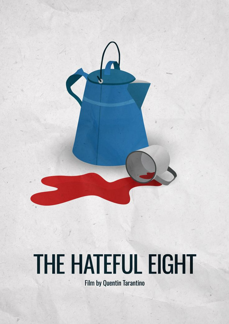 "jakovjakov: "" The Hateful Eight (2015) - Minimalist movie poster Film by Quentin Tarantino IMDB link """