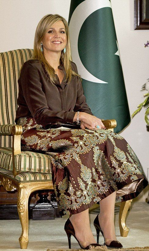 Queen Maxima of the Netherlands at a meeting with the UNDP and international partner organizations at the Serena hotel in Islamabad, Pakistan 2016-02-09