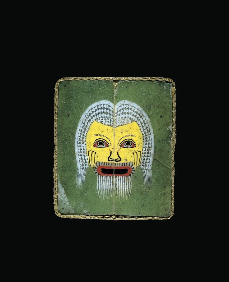 ~ Plaque with Actor's Mask. Culture/Period: Roman Empire Place of origin: possibly Egypt, Alexandria Date: 25 B.C. - A.D. 75