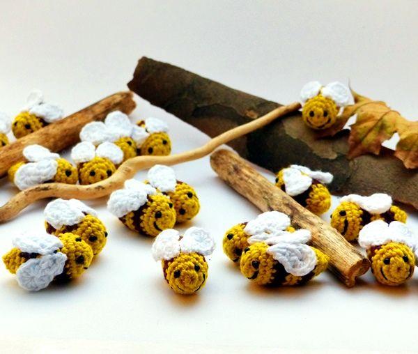 horgolt méhecskék / crochet bees