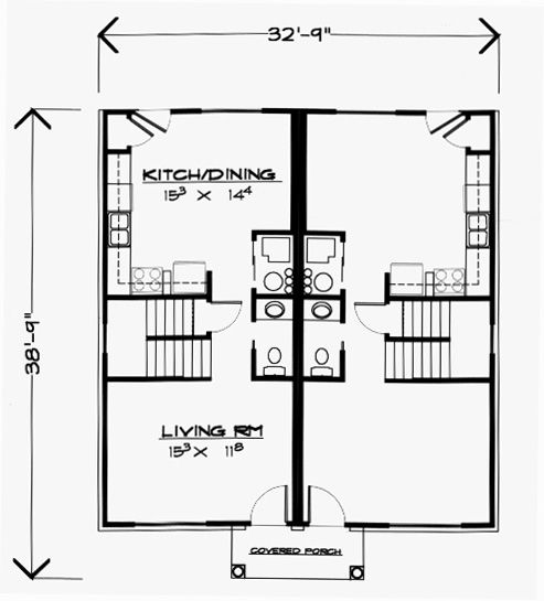 31 Best Two Family House Plans Images On Pinterest