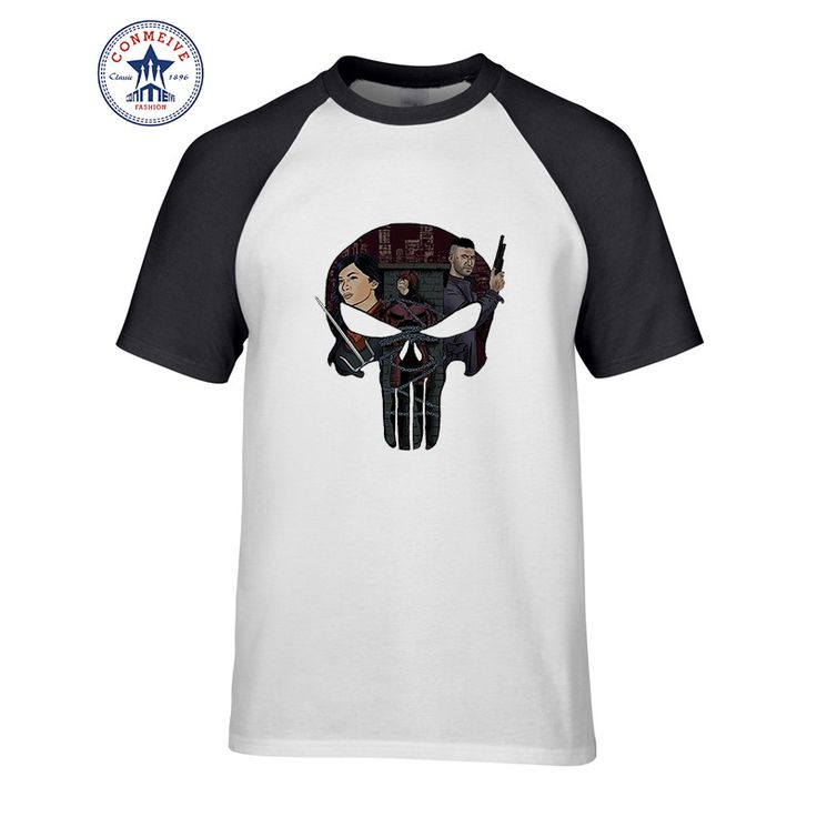 2017 New Arrive Funny Dare To Kidnap Devil American Drama Skull Hero Cotton t shirt for men #Affiliate