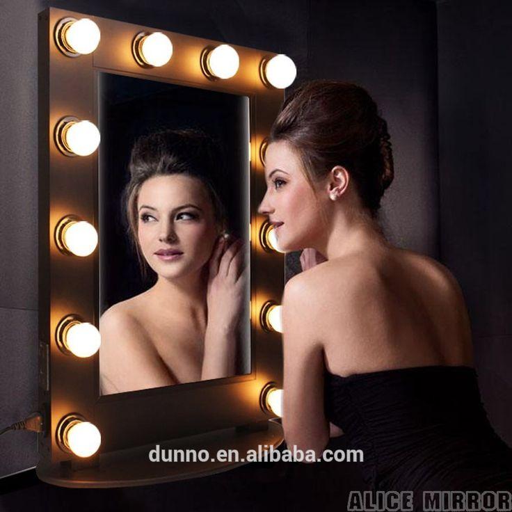 Factory Wholesale Custom illuminated Led Makeup Vanity Hollywood Mirror with Lights