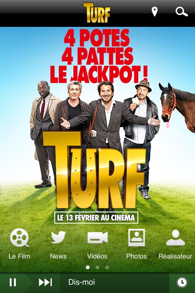 """Découvrez l'application officielle du film """"Turf"""", la nouvelle comédie de Fabien Onteniente, en salles le 13 février 2013. Disponible gratuitement:  iPhone : https://itunes.apple.com/fr/app/turf/id594999231?l=en=8  Android : https://play.google.com/store/apps/details?id=com.mobileroadie.app_16105=fr"""