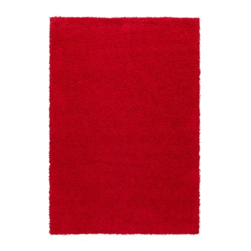 "HAMPEN Rug, high pile - red, 5 ' 3 ""x7 ' 7 "" - IKEA      In front of the couch?"