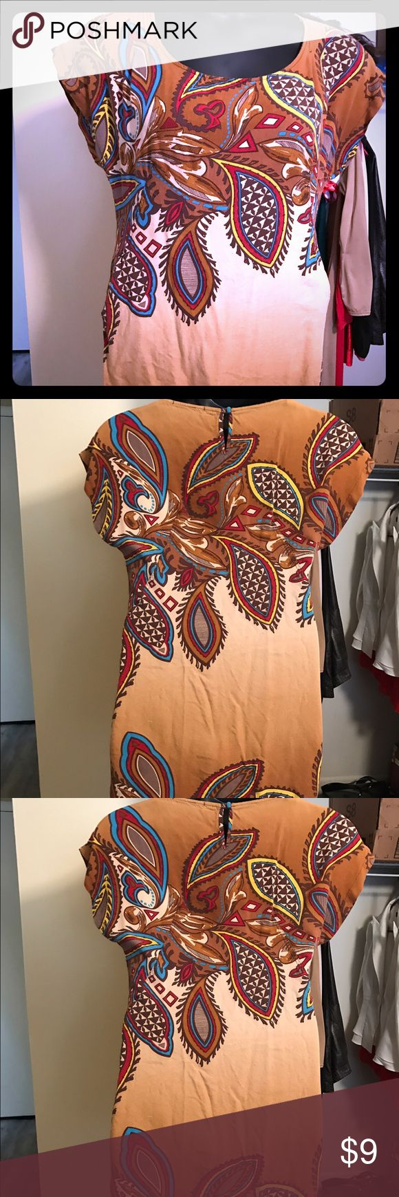 Size medium love 21 forever 21 dress Very cute size medium I call it Indian dress. Wore with tan boots feather earrings for a very cute day fall look Forever 21 Dresses Mini