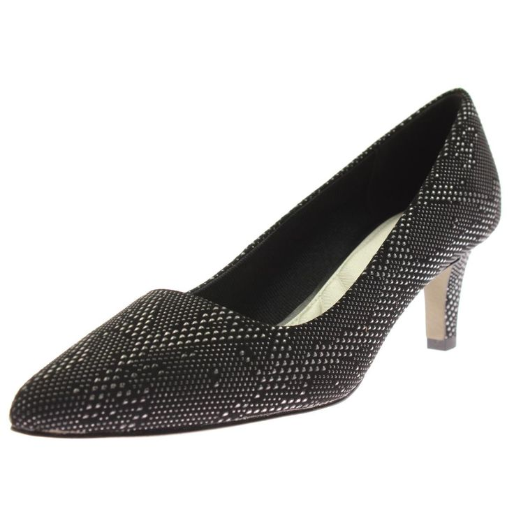 Easy Street Womens Pointe Textured Metallic Pumps