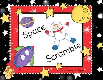 Looking for Out of This World Space activities to do with your class then this is the packet for you.  Sammy Spaceman has scrambled letters on him ...