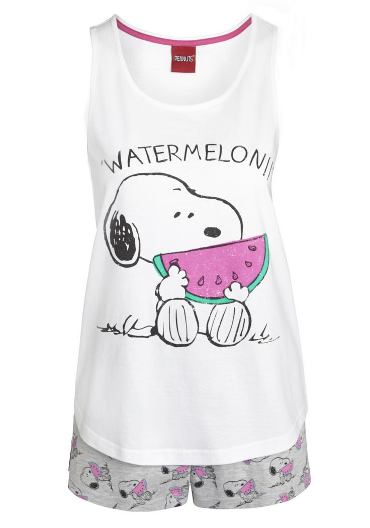 Clothing at Tesco | Snoopy Watermelon Print Shorts Pyjamas > nightwear > New In > Women