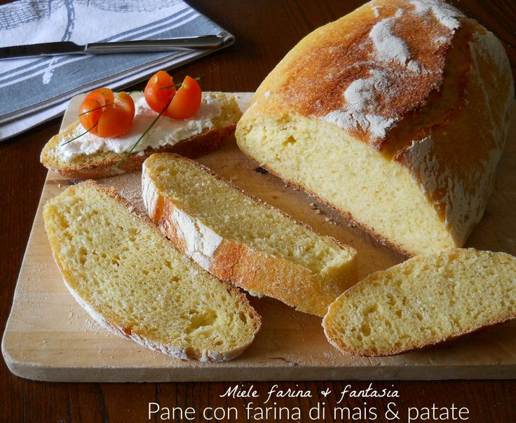 Pane con farina di mais e patate
