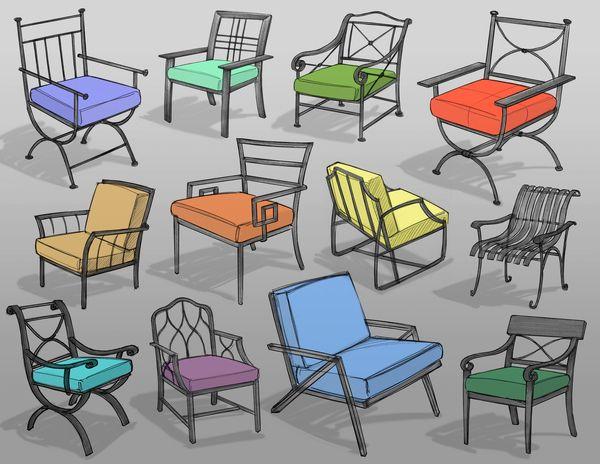 Chair Sketches By Brad Gressel Via Behance