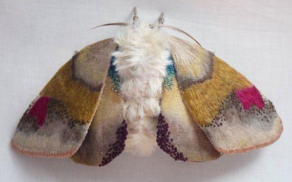 broderie papillon de nuit