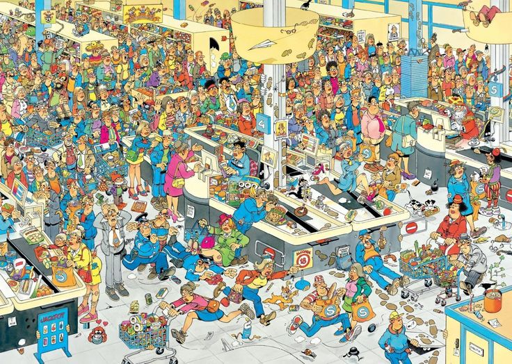 Van Haasteren Jan : Faites la Queue ! - 2000 Teile - JUMBO Puzzle acheter en ligne