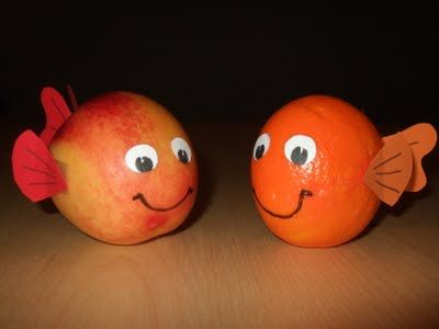 Eva's Smulhuisje: Gezonde kindertraktatie: mandarijnvisje & nectarinevisje