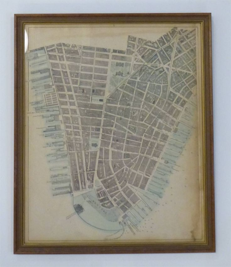 Solingen Map%0A Plan of New York City from the Battery to Spuyten Duyvil Creek         Mathew