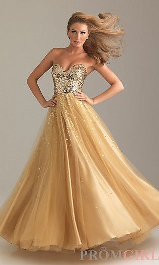 Sequin Ball Gown by Night Moves 6499 at PromGirl.com..... Might be getting this for Prom this year! :)