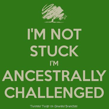 Genealogy - Ancestrally challenged                                                                                                                                                                                 More