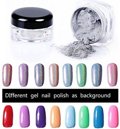 Chrome Nail Powder Manicure Pigment Laser Holographic Art Tips Beauty Kit #PrettyDiva