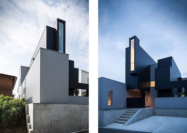 Japanese modern architecture at its best. This home has an exciting  interplay of forms and