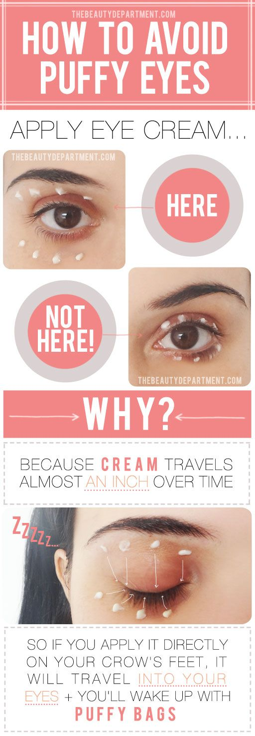 A great little beauty tip, where you apply your eye cream!