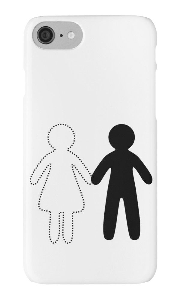 Missing half (Part I - girl) by XOOXOO  girl, boy, holding hands, love  iPhone Cases & Skins  PHONE CASE FOR IPHONE 4/4S/5/5C/5S/6/6 PLUS/ 7/7 PLUS