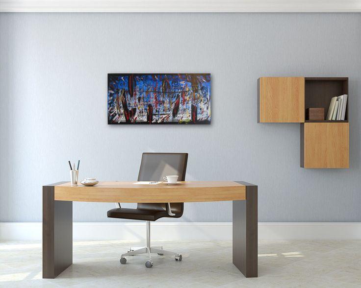 Bildvorschau: Nr. 614 Durch die Zeit jonglieren (2013) von Manuel Süess im Büro  #Malerei #Painting #AbstractArt http://art-by-manuel.com