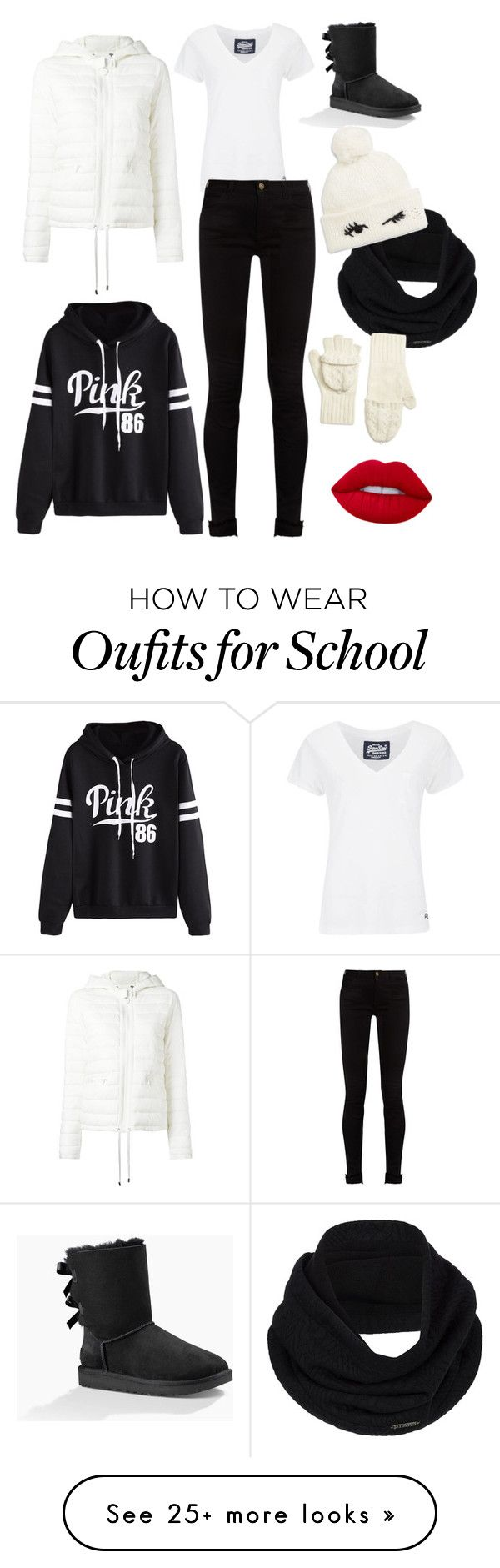 """Old School Winter Fun"" by yolokia on Polyvore featuring UGG Australia, WithChic, Twin-Set, Superdry, Gucci, prAna, Brooks Brothers and Kate Spade"