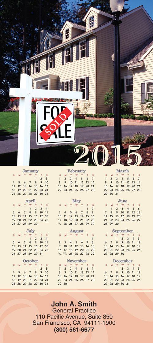 white sign just sold tri fold calendar c5706 sharpercardscomrealestate