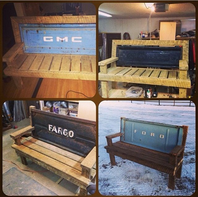 Repurposed tailgate benches #yyc