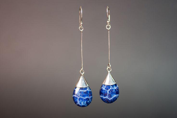 Earrings with blue foam coral €18