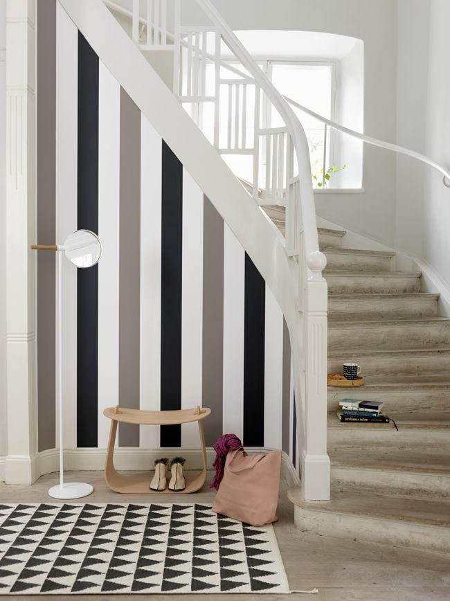 Las 25 mejores ideas sobre paredes a rayas en pinterest - Pintar pared a rayas horizontales ...