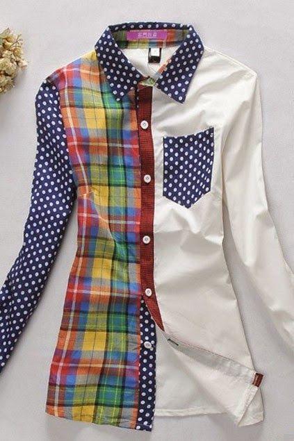 yo elijo coser: Camisa básica color block